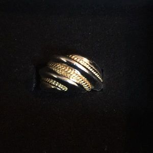Jewelry - Two-toned Silver and gold plated shrimp ring.